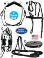 8 Item Horse Driving Harness Set USA Leather